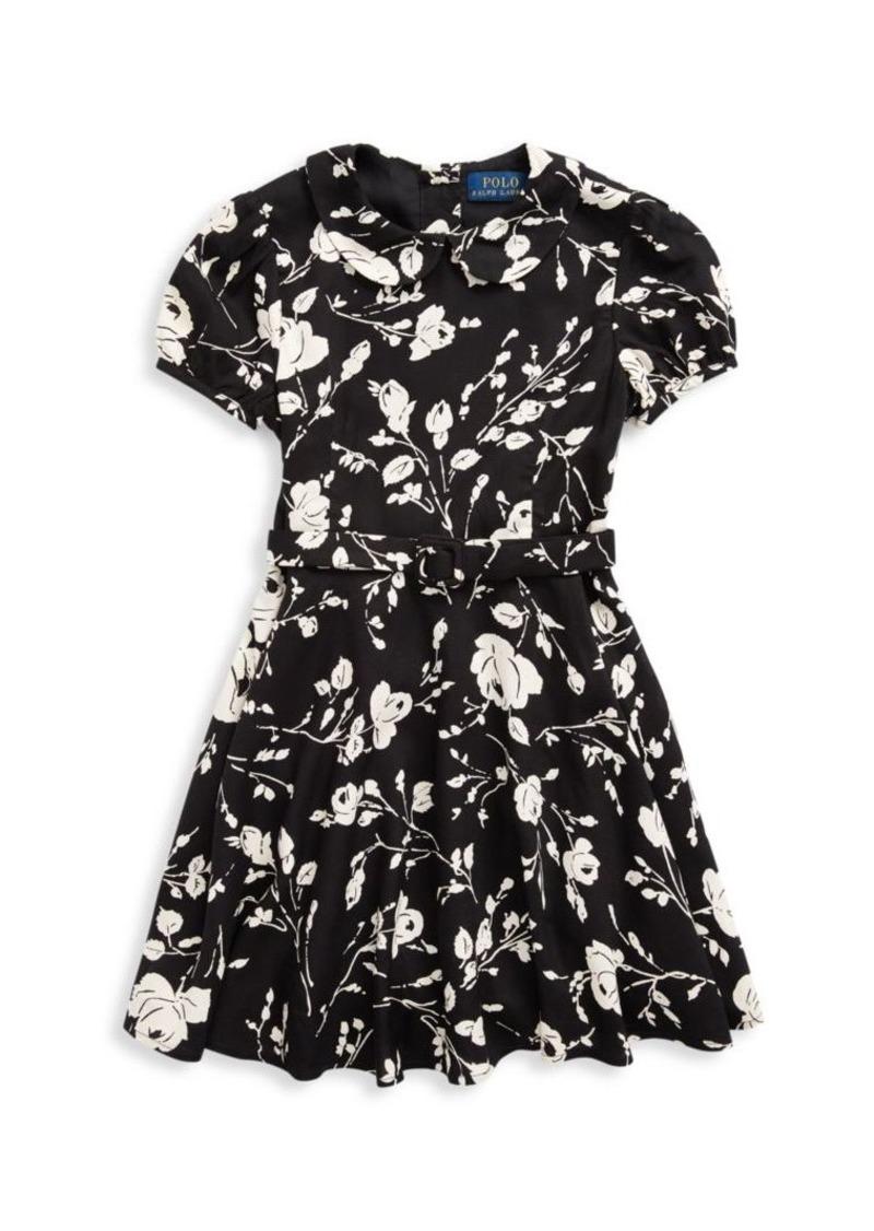 Ralph Lauren Little Girl's & Girl's Taylor Floral Print Fit & Flare Dress