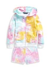 Ralph Lauren Little Girl's & Girl's Terry Tie-Dye Hoodie