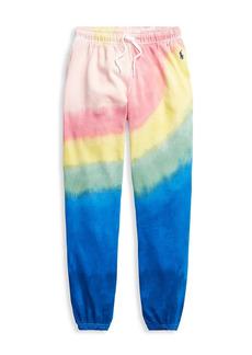 Ralph Lauren Little Girl's & Girl's Tie-Dye Terry Joggers