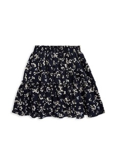 Ralph Lauren Little Girl's & Girl's Tiered Floral Cotton Skirt