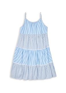 8d45a536c Ralph Lauren Little Girl's & Girl's Tiered Cotton Dress
