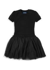 Ralph Lauren Little Girl's & Girl's Tulle Sweater Dress