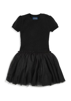 Ralph Lauren Little Girl's & Girl's Tulle Sweater Dress