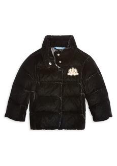 Ralph Lauren Little Girl's & Girl's Velvet Down Jacket