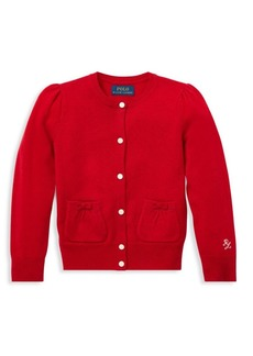 Ralph Lauren Little Girl's & Girl's Wool Cardigan