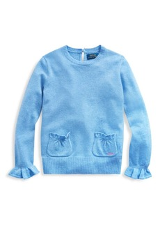 Ralph Lauren Little Girl's & Girl's Wool Ruffle Sweater