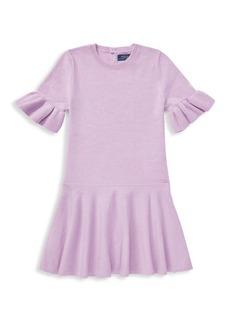 Ralph Lauren Little Girl's & Girl's Wool Ruffled Sweater Dress