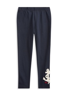 Ralph Lauren Little Girl's Anchor Leggings