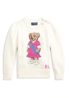 Ralph Lauren Little Girl's and Girl's Polo Bear Sweater