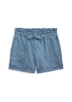 Ralph Lauren Little Girl's and Girl's Chambray Shorts
