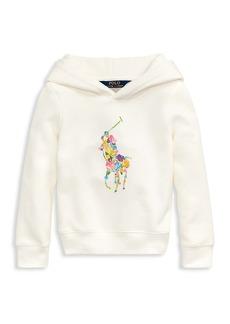 Ralph Lauren Little Girl's and Girl's Multicolor Logo Hoodie
