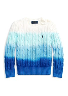 Ralph Lauren Little Girl's and Girl's Ombré Cable-Knit Sweater