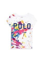 Ralph Lauren Little Girl's and Girl's Paint-Splatter T-Shirt