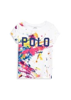 Ralph Lauren Little Girl's and Girl's Paint-Splatter T-Shirt