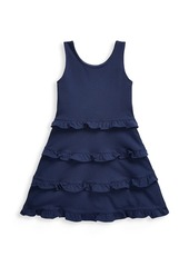 Ralph Lauren Little Girl's and Girl's Ruffle-Trimmed Jersey Dress
