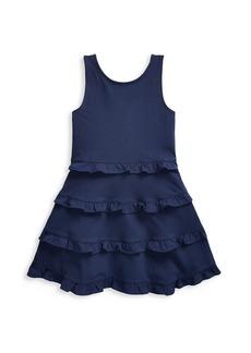 Ralph Lauren Little Girl's and Girl's Ruffle-Trimmed Jersey Dress