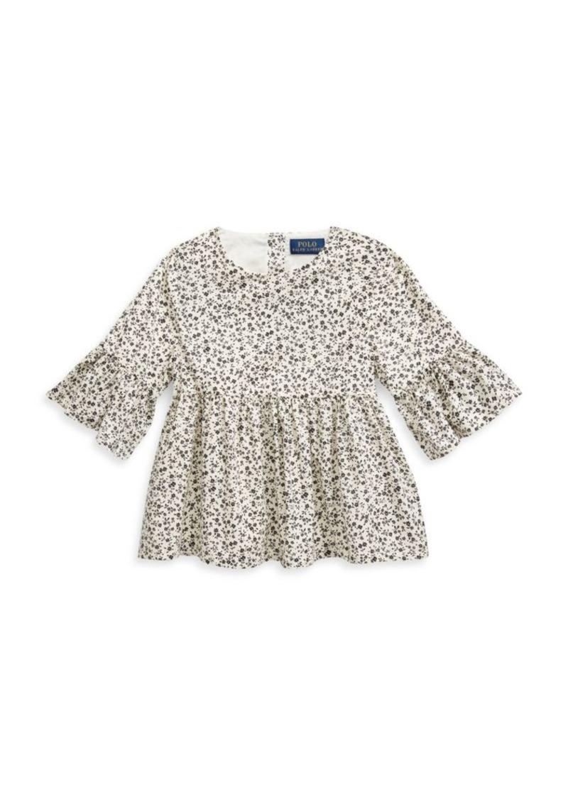Ralph Lauren Little Girl's Bell-Sleeve Top
