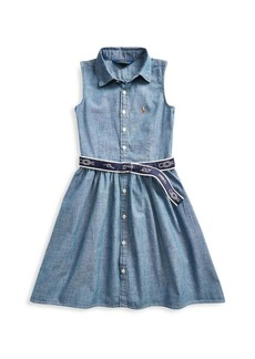 Ralph Lauren Little Girl's Belted Chambray Dress