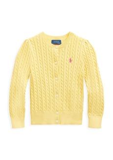 Ralph Lauren Little Girl's Cable-Knit Cardigan