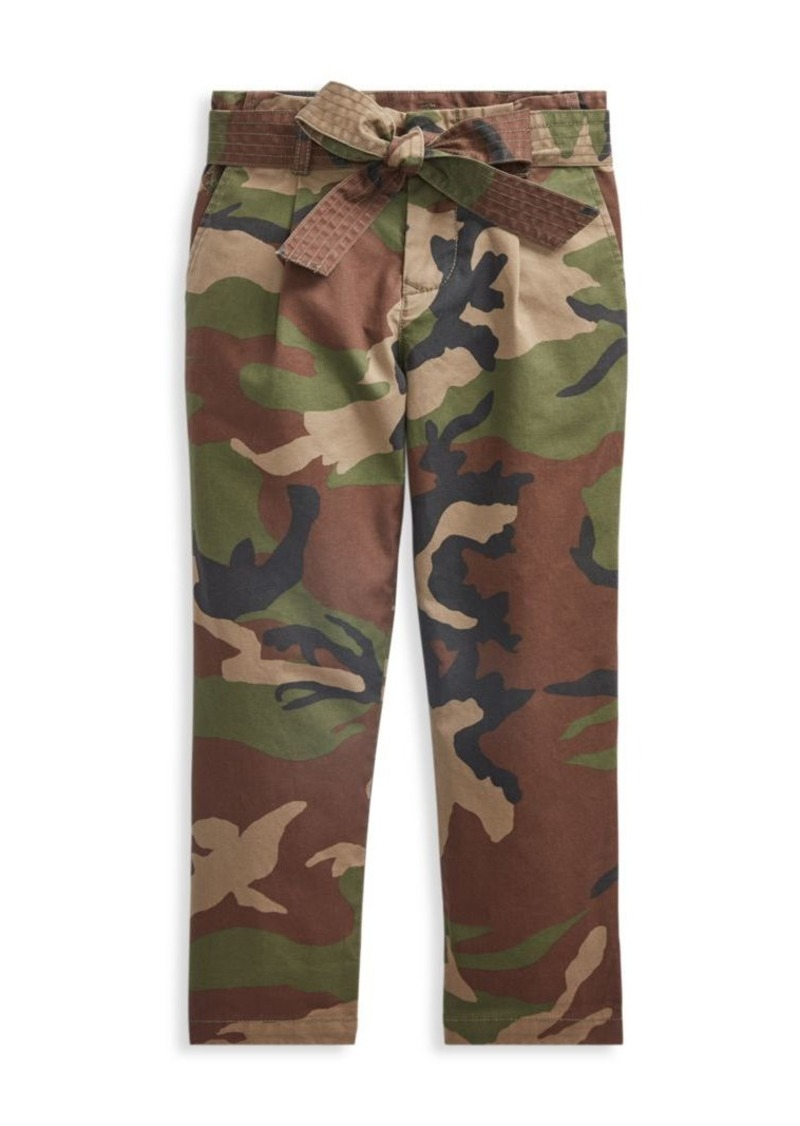 Ralph Lauren Little Girl's Camo Printed Paperbag Pants