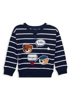 Ralph Lauren Little Girl's & Girl's Chenille Bear Knit Top