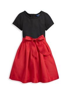 Ralph Lauren Little Girl's Colorblock Stretch Dress