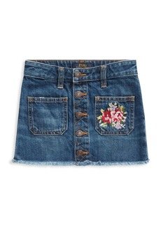 Ralph Lauren Little Girl's Embroidered Denim Skirt