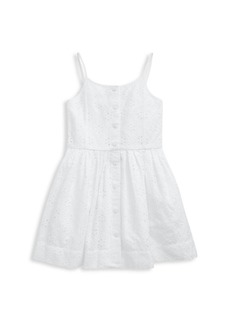 Ralph Lauren Little Girl's Eyelet Fit-and-Flare Dress