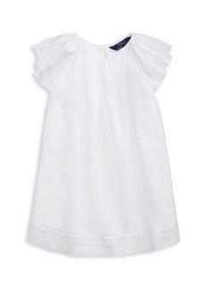 Ralph Lauren Little Girl's Flutter-Sleeve A-Line Cotton Dress
