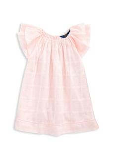 Ralph Lauren Little Girl's & Girl's Flutter-Sleeve A-Line Cotton Dress