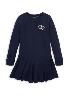 Ralph Lauren Little Girl's French Terry Graphic Dress
