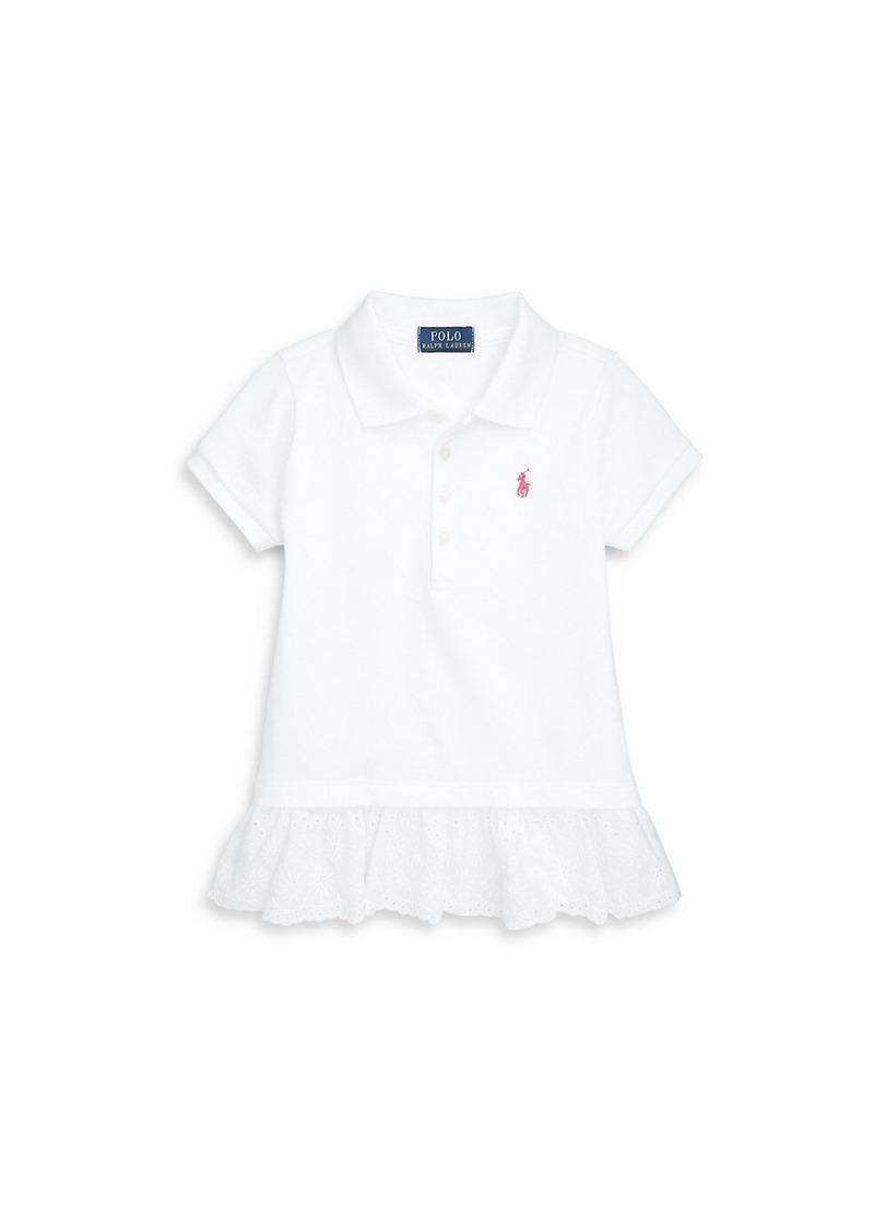 Ralph Lauren Little Girl's Lace-Trimmed Polo Shirt
