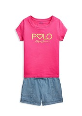 Ralph Lauren Little Girl's & Girl's Logo Graphic T-Shirt