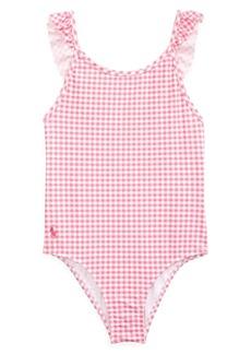 Ralph Lauren Girl's Gingham One-Piece Swimsuit