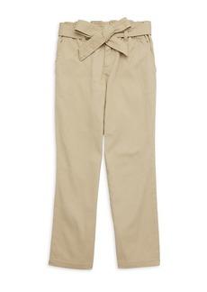 Ralph Lauren LIttle Girl's Paperbag Waist Cotton Pants