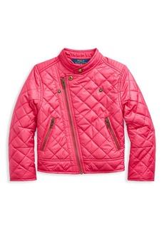 Ralph Lauren Little Girl's Quilted Nylon Moto Jacket