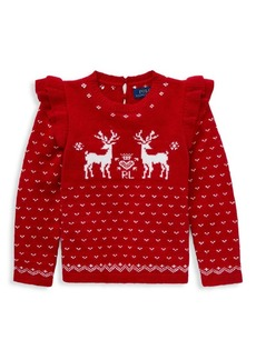 Ralph Lauren Little Girl's Reindeer Sweater