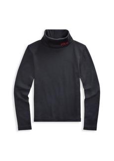 Ralph Lauren Little Girl's Rib-Knit Turtleneck Sweater