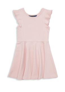 Ralph Lauren Little Girl's Ruffle-Trimmed Dress