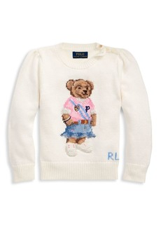 Ralph Lauren Little Girl's Spring Beach Trophy Sweater