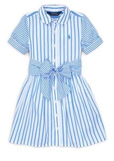 Ralph Lauren Little Girl's & Girl's Stripe Cotton Shirtdress