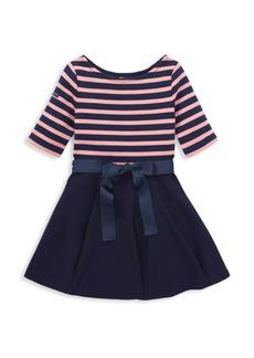 Ralph Lauren Little Girl's Stripe Ponte Dress