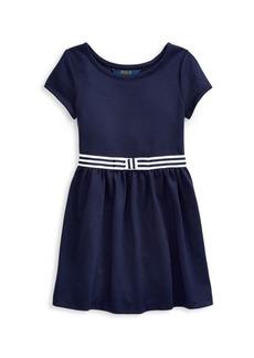Ralph Lauren Little Girl's Stripe-Waist A-Line Dress