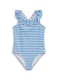 Ralph Lauren Little Girl's Striped One-Piece Swimsuit