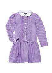 Ralph Lauren Little Girl's & Girl's Striped Poplin Dress