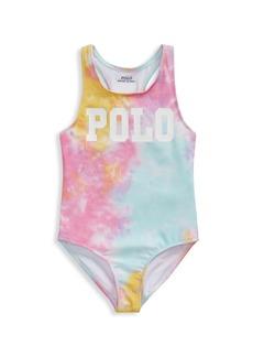 Ralph Lauren Little Girl's Tie-Dye One-Piece Swimsuit