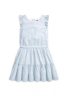 Ralph Lauren Little Girl's Tiered Stripe Dress