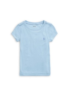 Ralph Lauren Little Girl's Washed Cotton-Blend T-Shirt