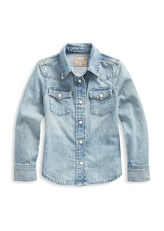 Ralph Lauren Little Girl's Western Denim Shirt