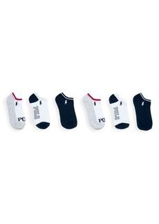 Ralph Lauren Little Kid's & Kid's 6-Pack Polo Ankle Socks